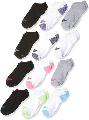 Hanes Big Girl's 12 Pack No Show Socks