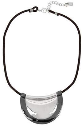 Robert Lee Morris SOHO Leather Layered Pendant Necklace