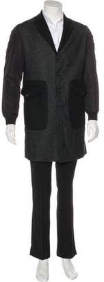 DSQUARED2 Wool Three-Button Overcoat