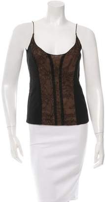 Narciso Rodriguez Sleeveless Lace-Accented Top