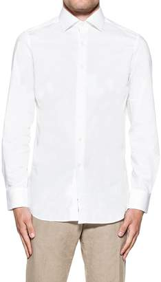 Bagutta White Stretch Shirt