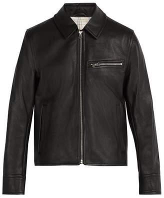 Acne Studios Leather Jacket - Mens - Black