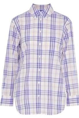 Equipment Checked Cotton-Gauze Shirt