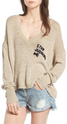Women's Wildfox Stop Judging Me Sweater $170 thestylecure.com
