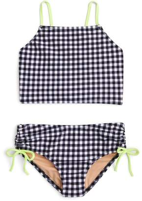 J.Crew crewcuts by crewcuts by J. Crew Leia Gingham Two-Piece Swimsuit