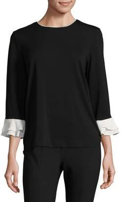 Karl Lagerfeld Paris Flutter Sleeve Blouse