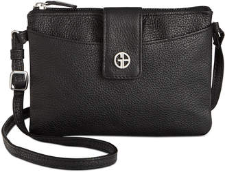 Giani Bernini Leather Softy Mini Accordion Crossbody, Created for Macy's