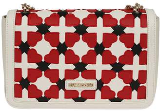 Love Moschino Checked Heart Shoulder Bag
