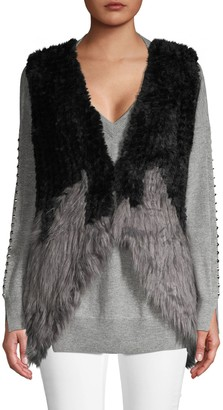 DOLCE CABO Colorblock Faux Fur Vest