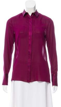 Alice + Olivia Silk Button-Up Top