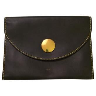 Celine Navy Leather Clutch Bag