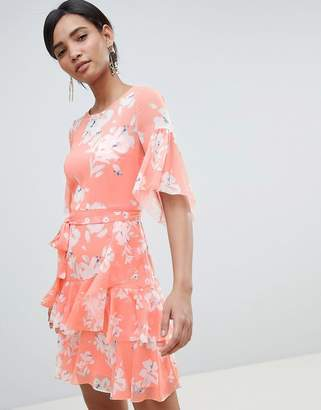 French Connection Floral Flippy Dress