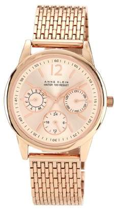 Anne Klein Women's Quartz Watch with Rose Gold Dial Analogue Display and Stainless Steel Bracelet 10/N9734RGRG