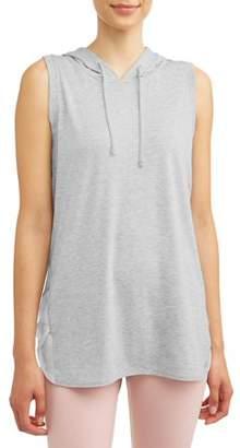 7428c0c335cd7 Avia Women's Active Sleeveless Hoodie - Mesh Racerback Pullover Top