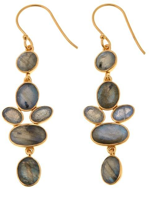 ArgentovivoArgento Vivo Labradorite Cluster Gold-Plated Sterling Silver Drop Earrings