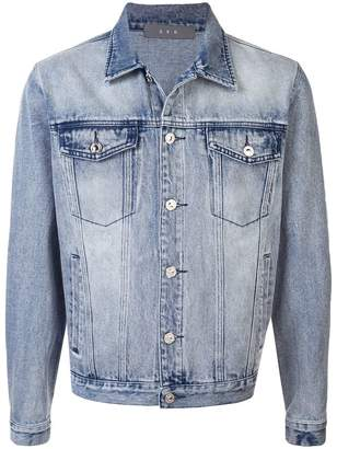 Geo adjustable denim jacket