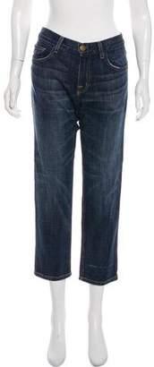 Current/Elliott The Boyfriend Mid-Rise Straight-Leg Jeans