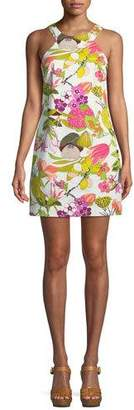 Trina Turk Aptos Secret Garden Stretch Cotton Twill Dress