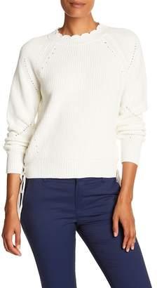 Joie Adanya Side Lace-Up Knit Sweater