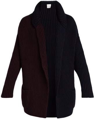 Paul Smith Bi-colour wool-knit cardigan