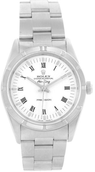 Rolex 14010 Oyster Perpetual Air King White Roman Dial Watch