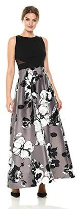 Sangria Women's Cut Out Waist Ballgown
