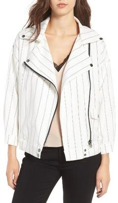 Women's Line & Dot Obispo Moto Jacket $119 thestylecure.com