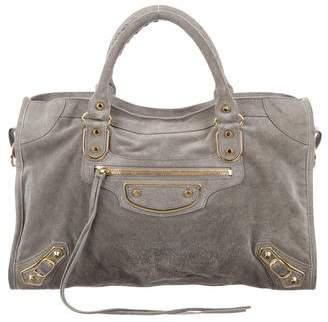 Balenciaga Motocross Classic Metallic Edge City Bag