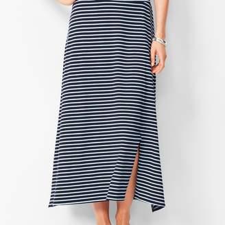 Talbots Jersey Maxi Skirt - Stripe