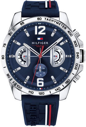 Tommy Hilfiger Men's Navy Silicone Strap Watch 46mm