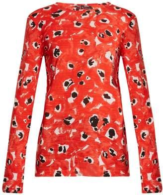 Proenza Schouler Abstract-print long-sleeved cotton-jersey top