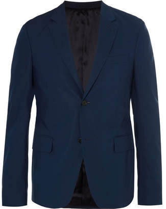 Prada Navy Slim-Fit Cotton-Poplin Suit Jacket