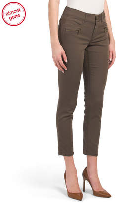 Ab Tech Ankle Pants With Zipper Trim