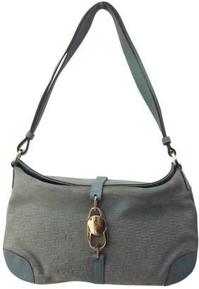 Gucci Vintage Blue Suede Handbag