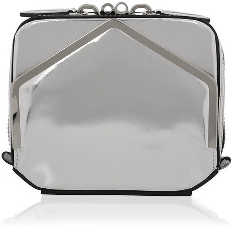 Alexander Wang Adriel metallic leather clutch