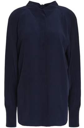 Cédric Charlier Split-Back Silk Crepe De Chine Shirt