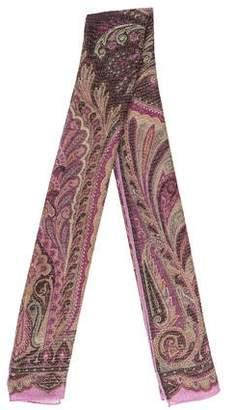 Etro Wool-Blend Knit Scarf