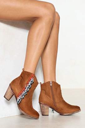 Nasty Gal Bead the Odds Fringe Boot