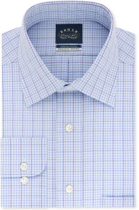 Eagle Men Big and Tall Non-Iron Flex Collar Check Dress Shirt