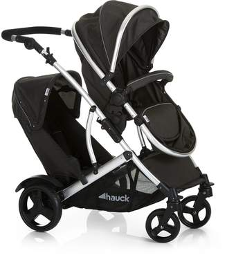 Hauck Duett 2 Tandem Double Pushchair from Birth Reversible Seat Convertible to Carrycot 2 Raincovers Footmuff Extendable Hood Bumper Bar Removable Seat Height-Adjustable Push Handle
