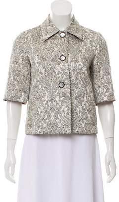 Etro Brocade Short Sleeve Jacket
