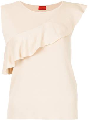 TOMORROWLAND frill trim sleeveless knit top
