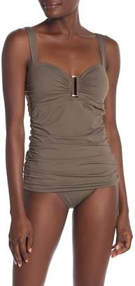Tommy Bahama Pearl Shirred Long Tankini Top
