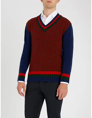 Etro Intarsia-knit wool and cashmere-blend jumper
