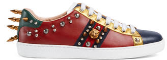 Ace studded leather low-top sneaker $750 thestylecure.com