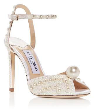 Jimmy Choo Women's Sacora 100 Peep-Toe Pumps