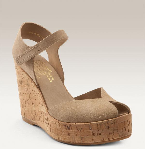 Pedro Garcia 'Rainia' Cork Platform Wedge Sandal