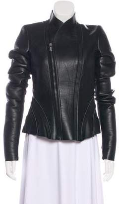 Rick Owens Lilies Leather-Blend Casual Jacket w/ Tags