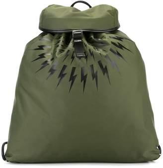 Neil Barrett lightning bolt print backpack