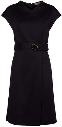 Burberry Crossover Neck Midi Dress